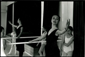 Teaching beginners ballet in the early 90's