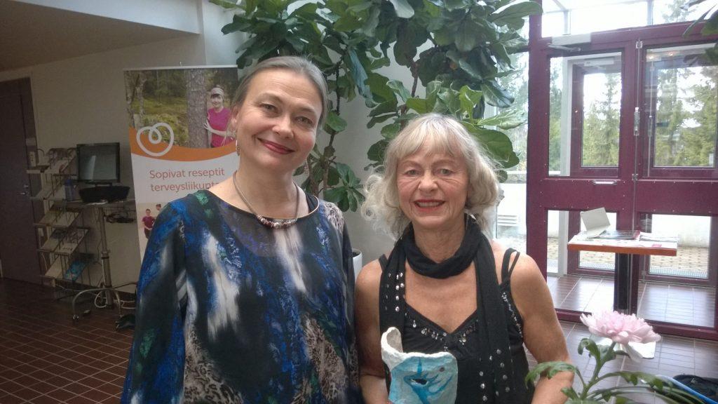 Painter/Dancer Monica Gorschelnik with Dancing English Teacher